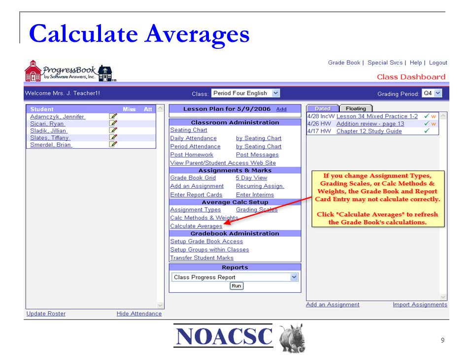 9 Calculate Averages