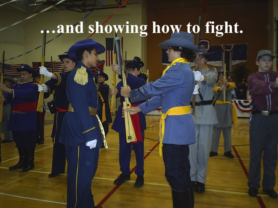 …and showing how to fight.