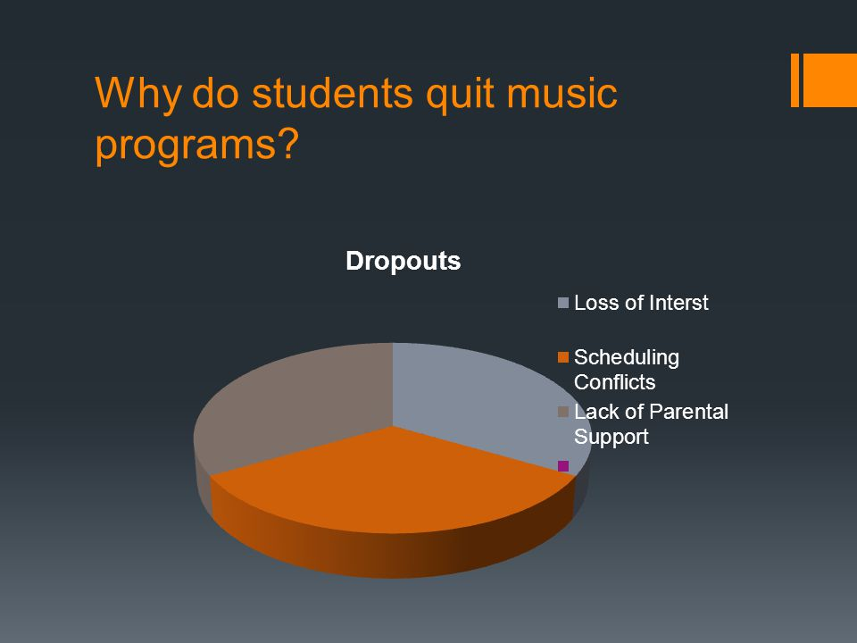 Why do students quit music programs