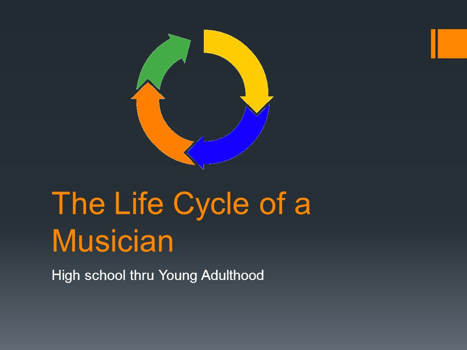 The Life Cycle of a Musician High school thru Young Adulthood