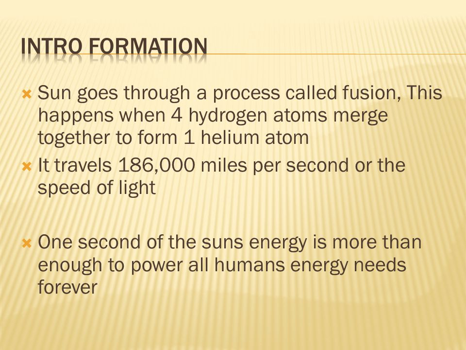  Solar energy is radiation from the sun