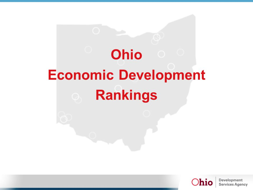 Ohio Economic Development Rankings