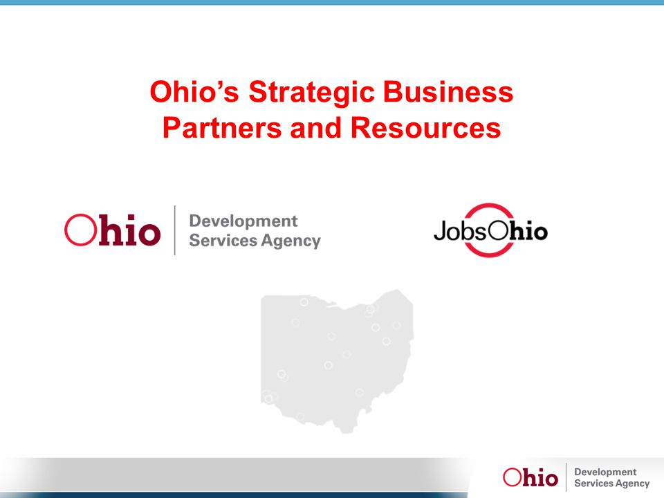 Ohio's Strategic Business Partners and Resources