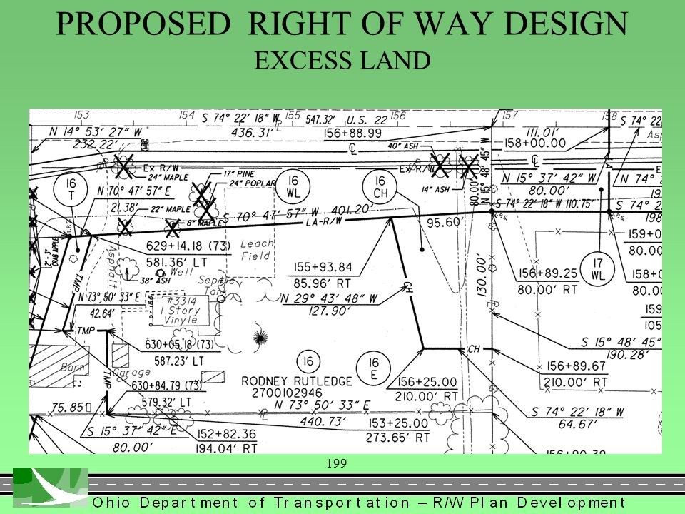 199 PROPOSED RIGHT OF WAY DESIGN EXCESS LAND