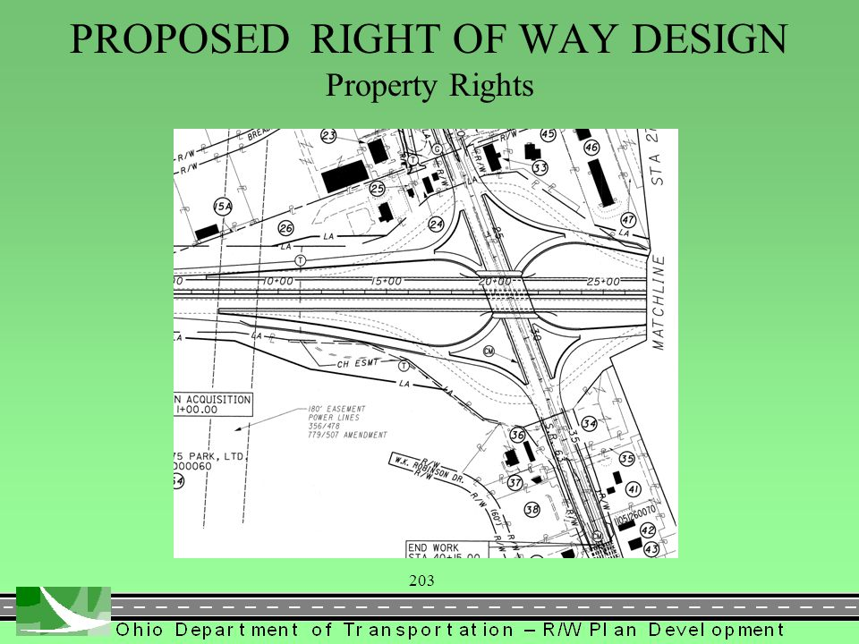 203 PROPOSED RIGHT OF WAY DESIGN Property Rights