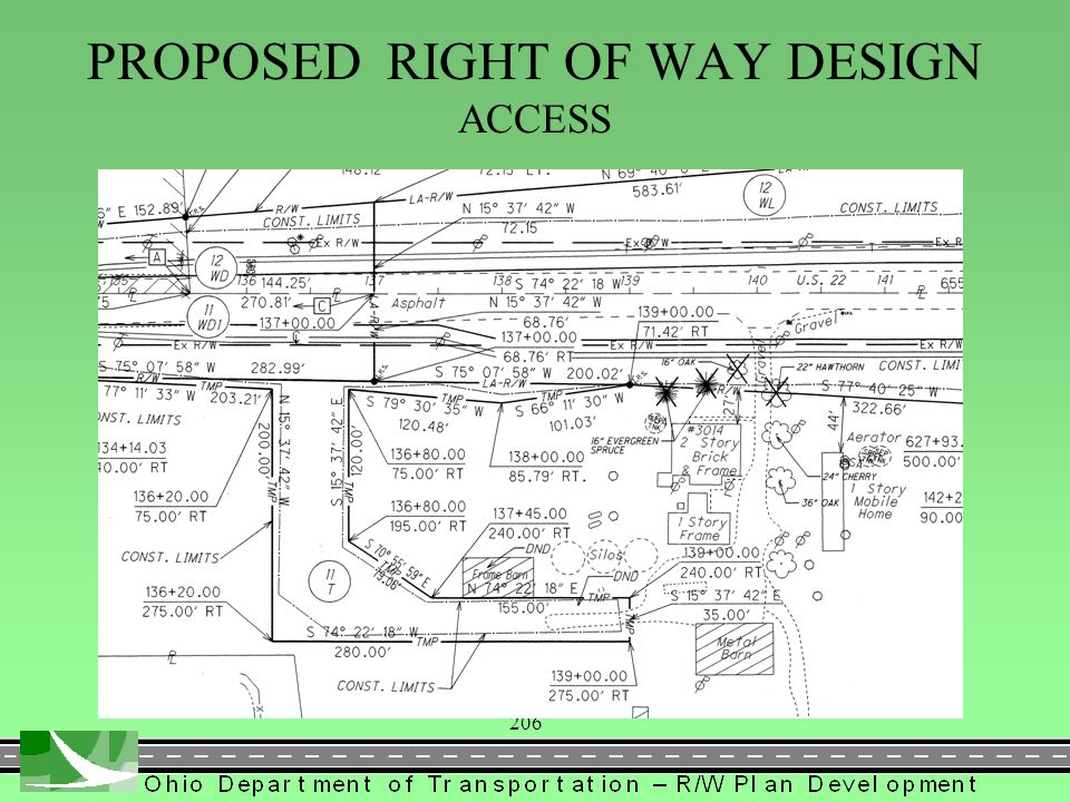 206 PROPOSED RIGHT OF WAY DESIGN ACCESS