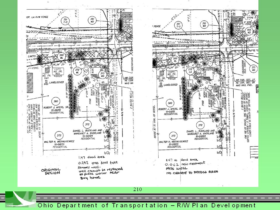 211 PROPOSED RIGHT OF WAY DESIGN  3106.5.2 Establishing Right of Way Lines and Widths Begin/End of