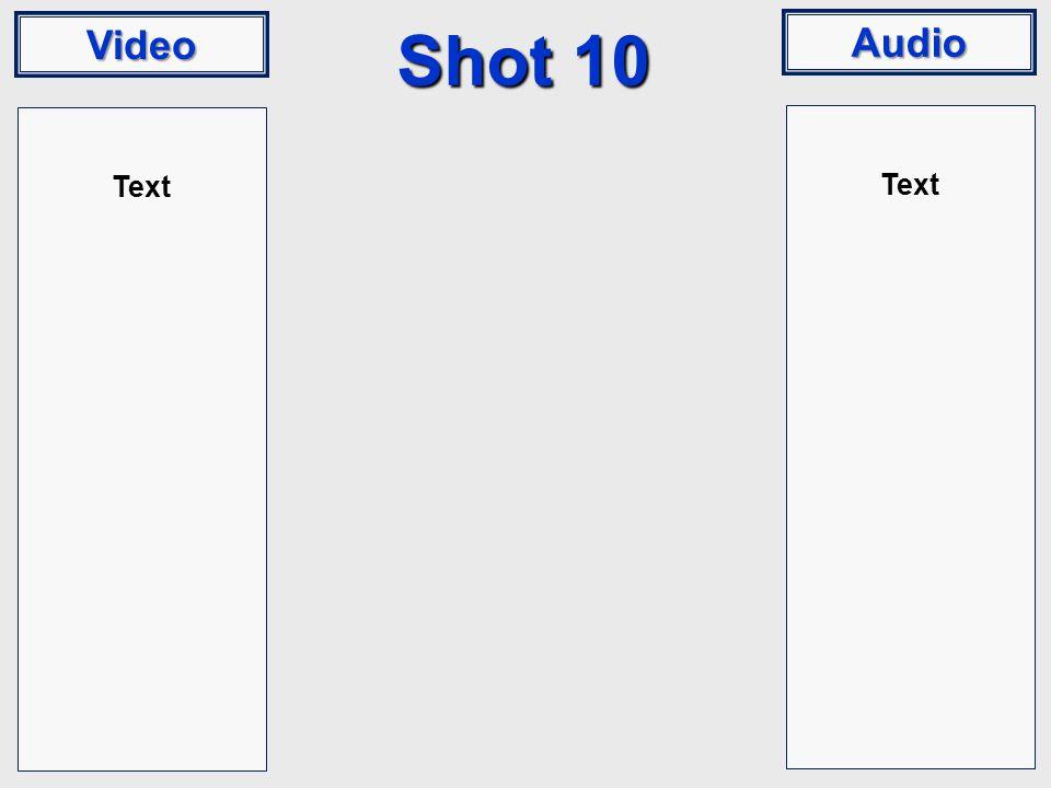 Video Audio Shot 10 Text