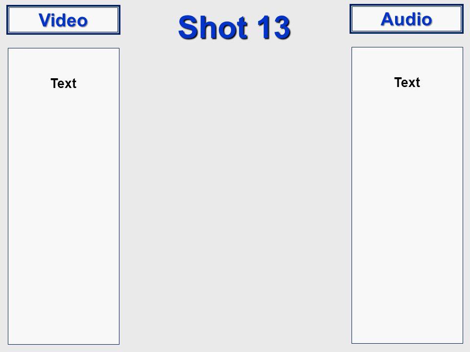 Video Audio Shot 13 Text