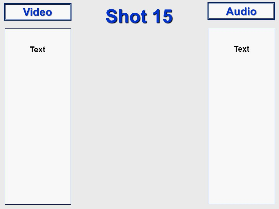 Video Audio Shot 15 Text