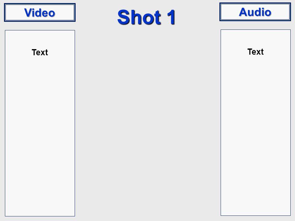 Video Audio Shot 1 Text