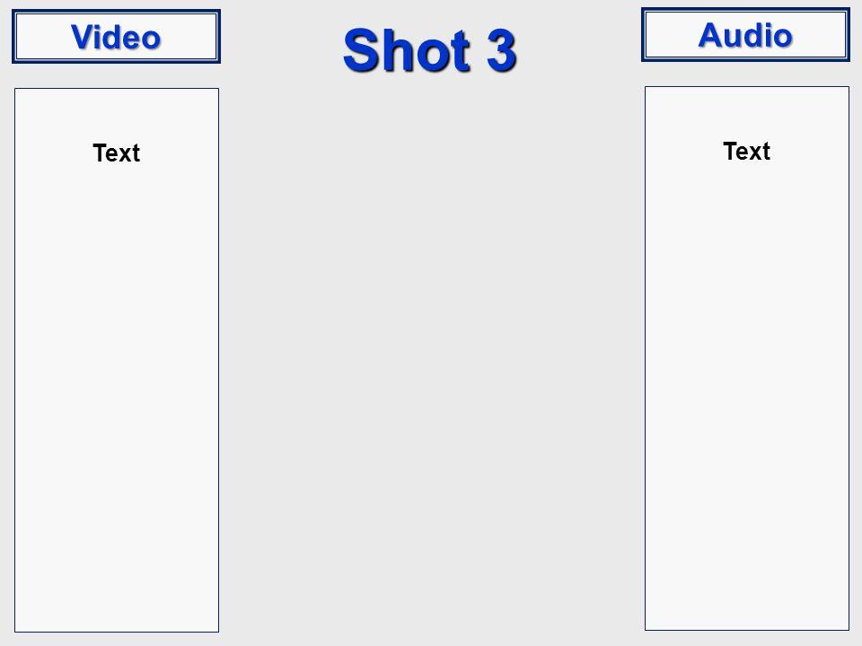 Video Audio Shot 3 Text