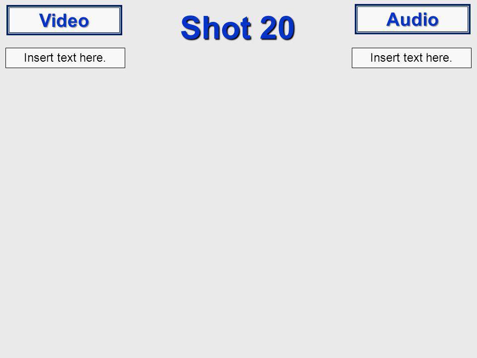 Video Audio Shot 20 Insert text here.