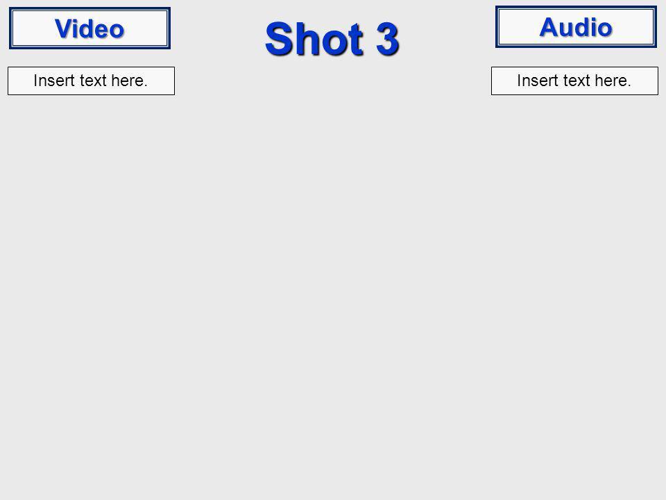 Video Audio Shot 3 Insert text here.