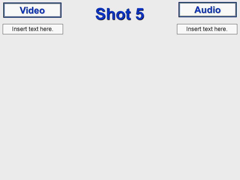 Video Audio Shot 5 Insert text here.