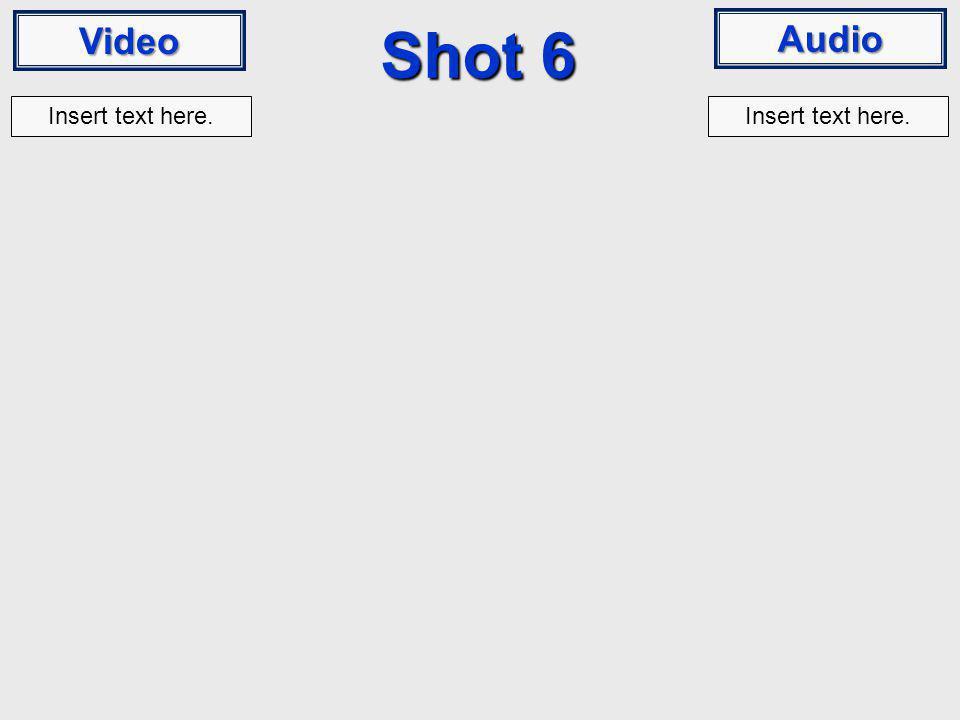 Video Audio Shot 6 Insert text here.