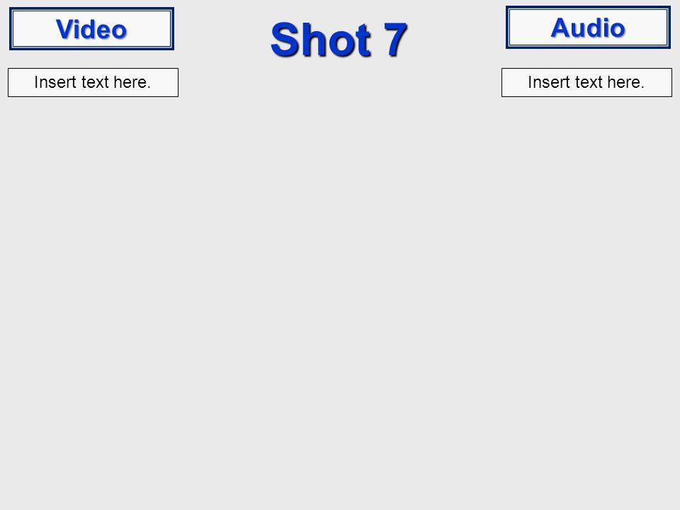 Video Audio Shot 7 Insert text here.
