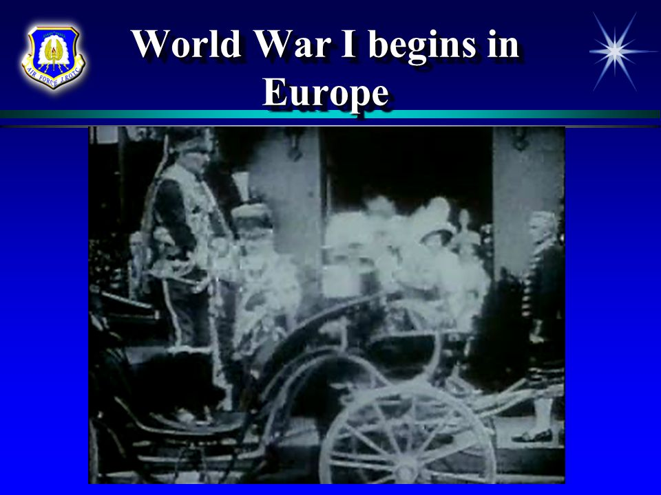Chapter 2, Lesson 3 World War I  Most World War I battles were fought on land or at sea  Airplanes were still fragile when the war started in 1914  But during the war, aviation engineers made tremendous advances