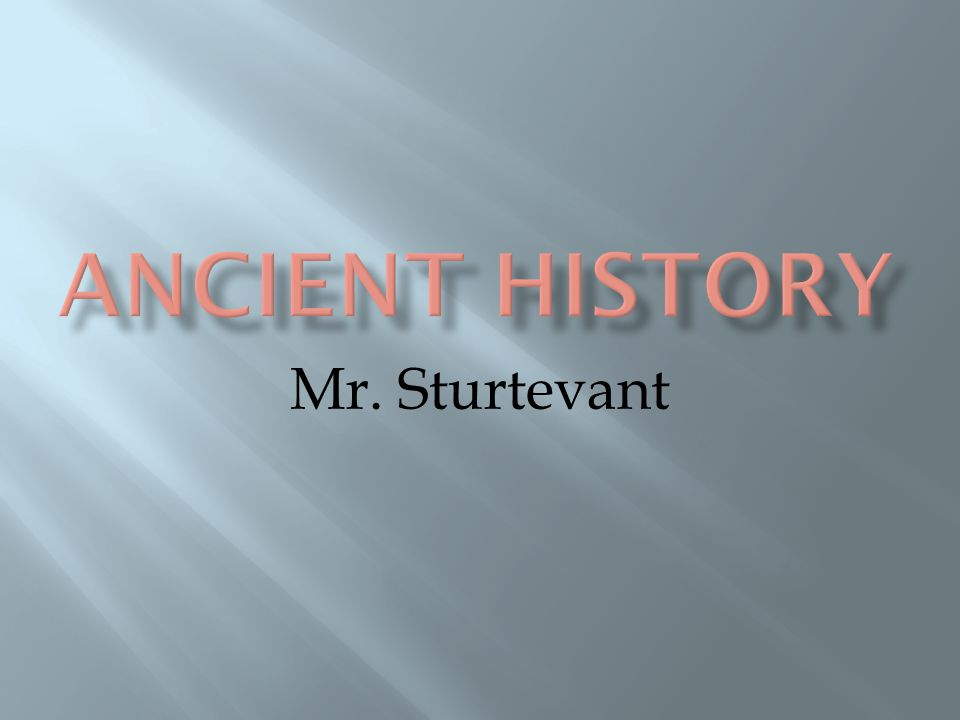 Mr. Sturtevant