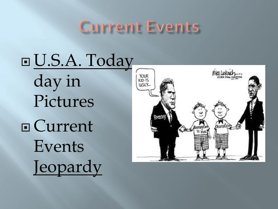  U.S.A. Today day in Pictures  Current Events Jeopardy