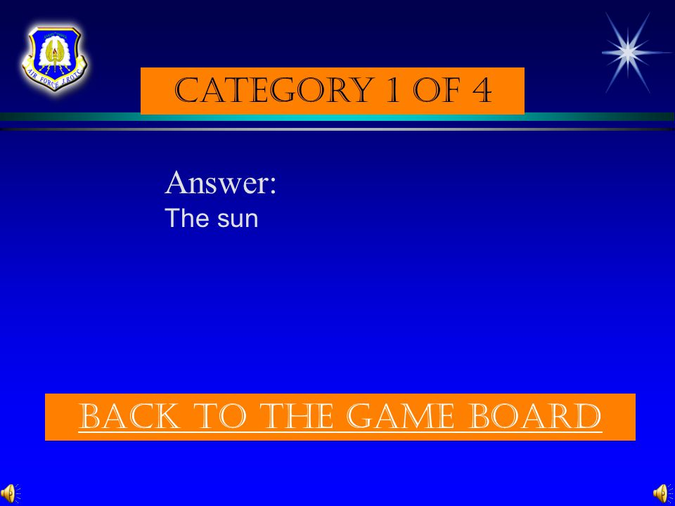 Category 1 of 4 Question: The largest object in the solar system. (p. 289) Check Your answer