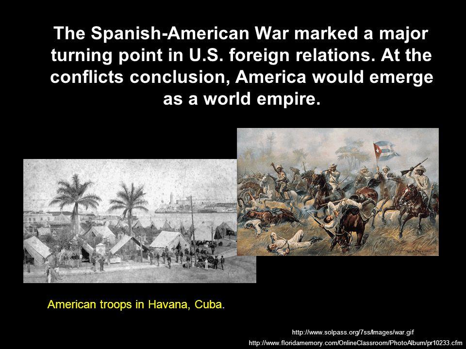 In 1895, Cuban workers rebelled against Spain, seeking their independence.