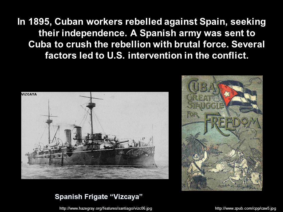 In the Caribbean, hostilities began with a naval blockade of Cuba.