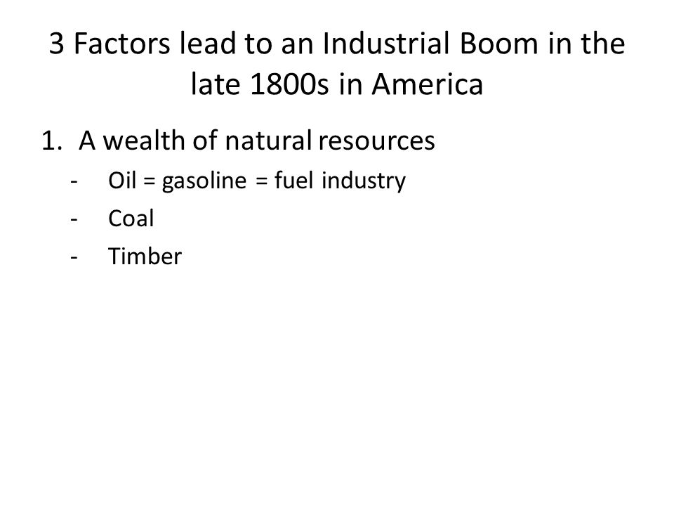 Industrial and Technological Boom Questions to answer Why did people's daily lives change in the decades following the Civil War? How did advances in