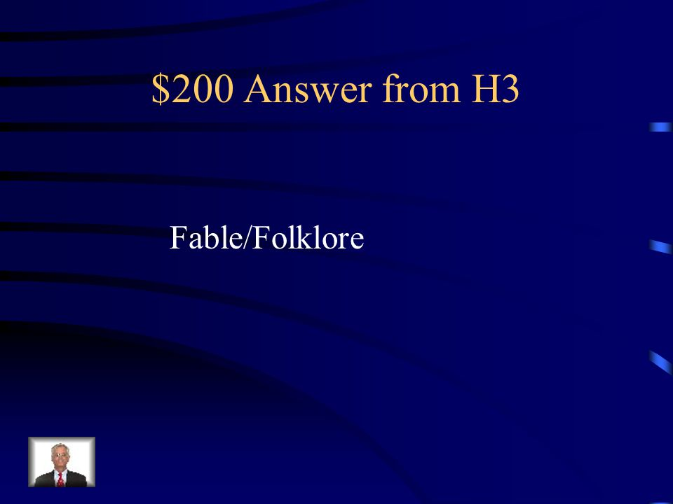 $200 Question from H3 Because it has a moral, Very Old Man With Enormous Wings is classified as a