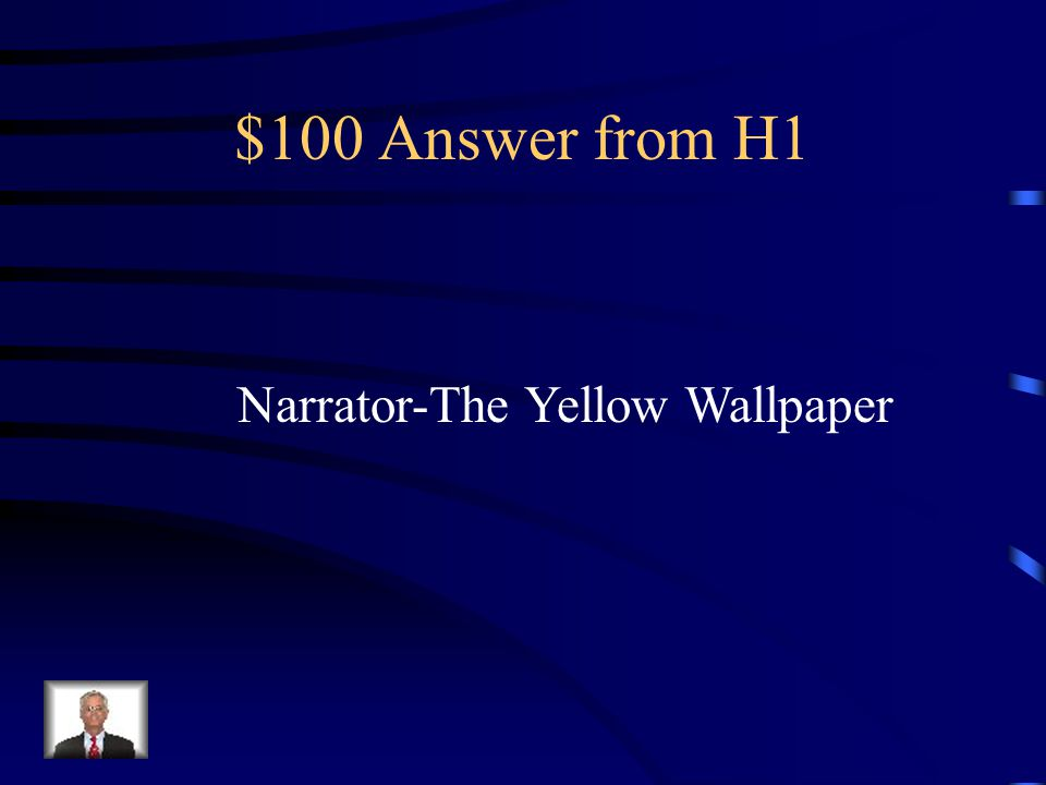 $100 Answer from H2 Dead Man's Path