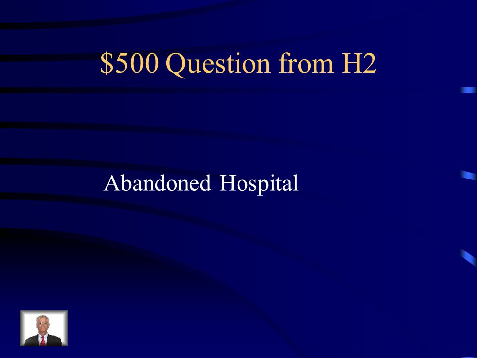 $400 Answer from H2 Yellow Wallpaper