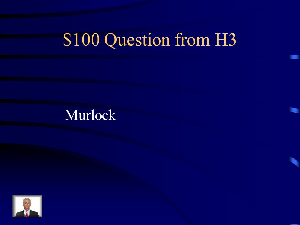 $500 Answer from H2 The Wall