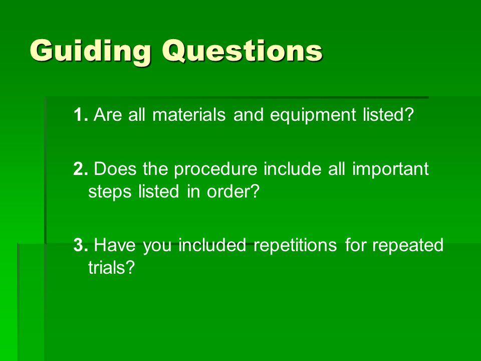 Guiding Questions 4.