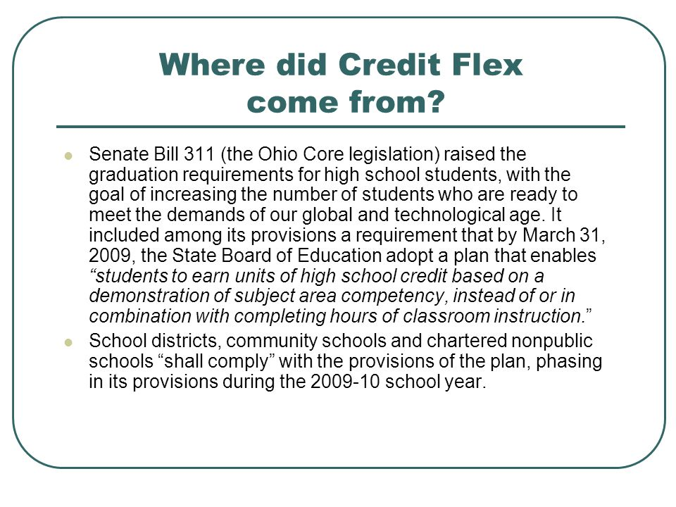 Where did Credit Flex come from.