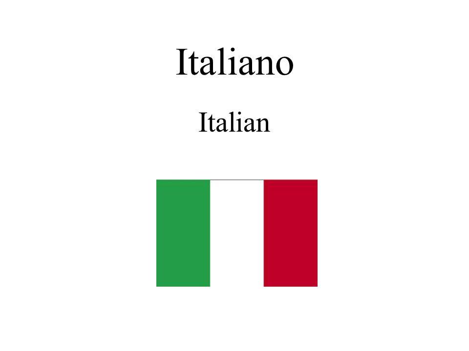 Italiano Italian