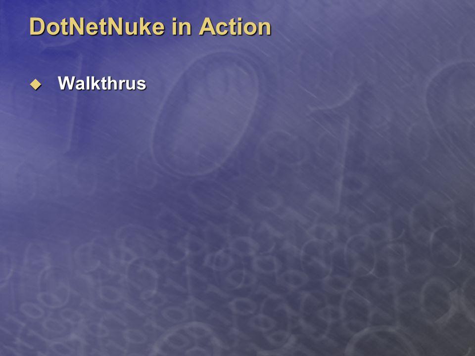 DotNetNuke in Action  Walkthrus