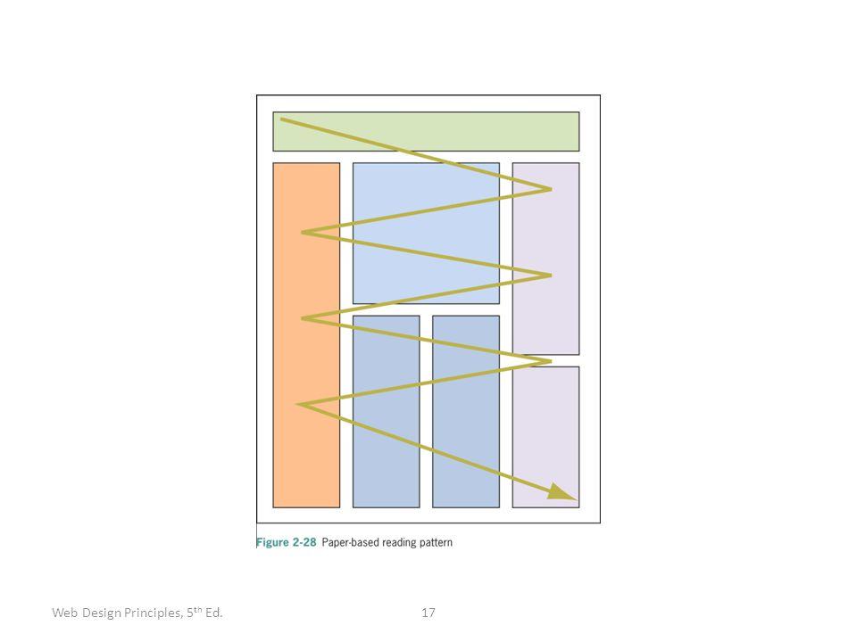 17Web Design Principles, 5 th Ed.