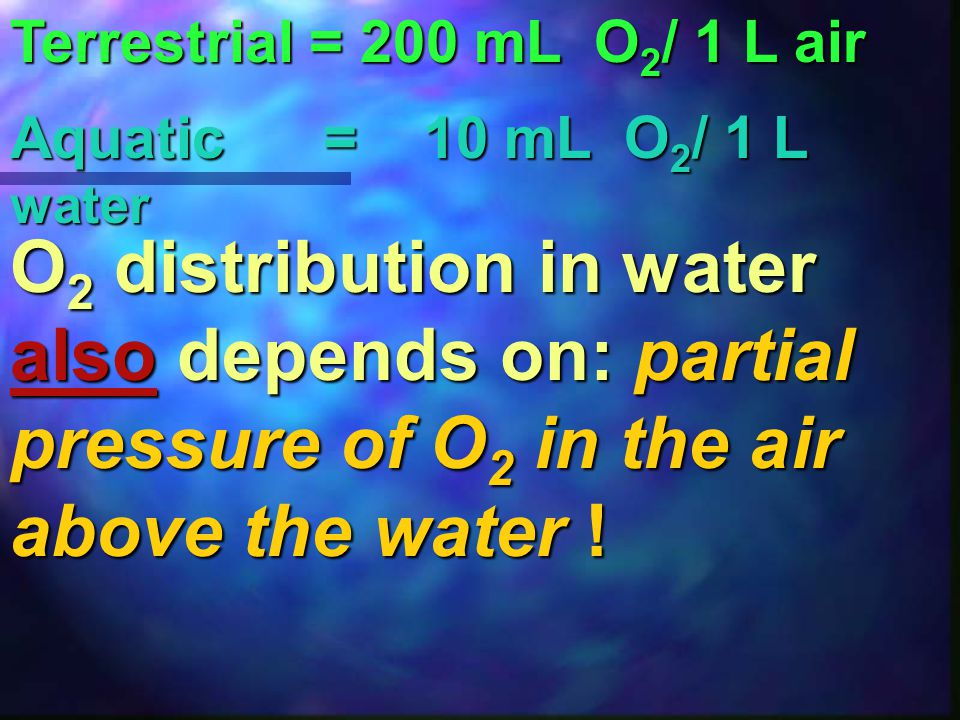 """HIGHER O 2 (DO) CONCENTRATION (ppm) at: """"Help - I am suffocating!!!"""" neutral pH low temperature low elevation low salinity"""