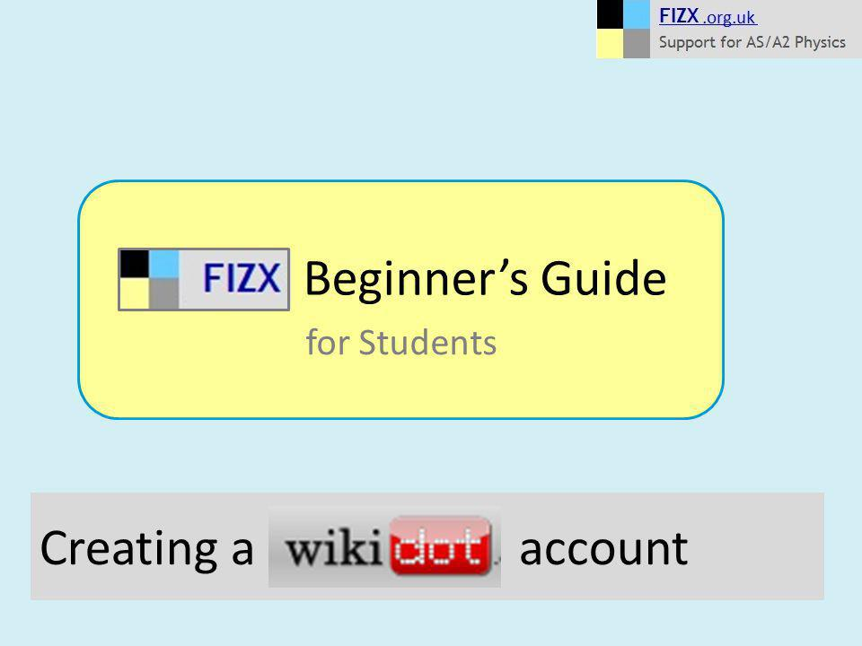 Creating a account Beginner's Guide for Students