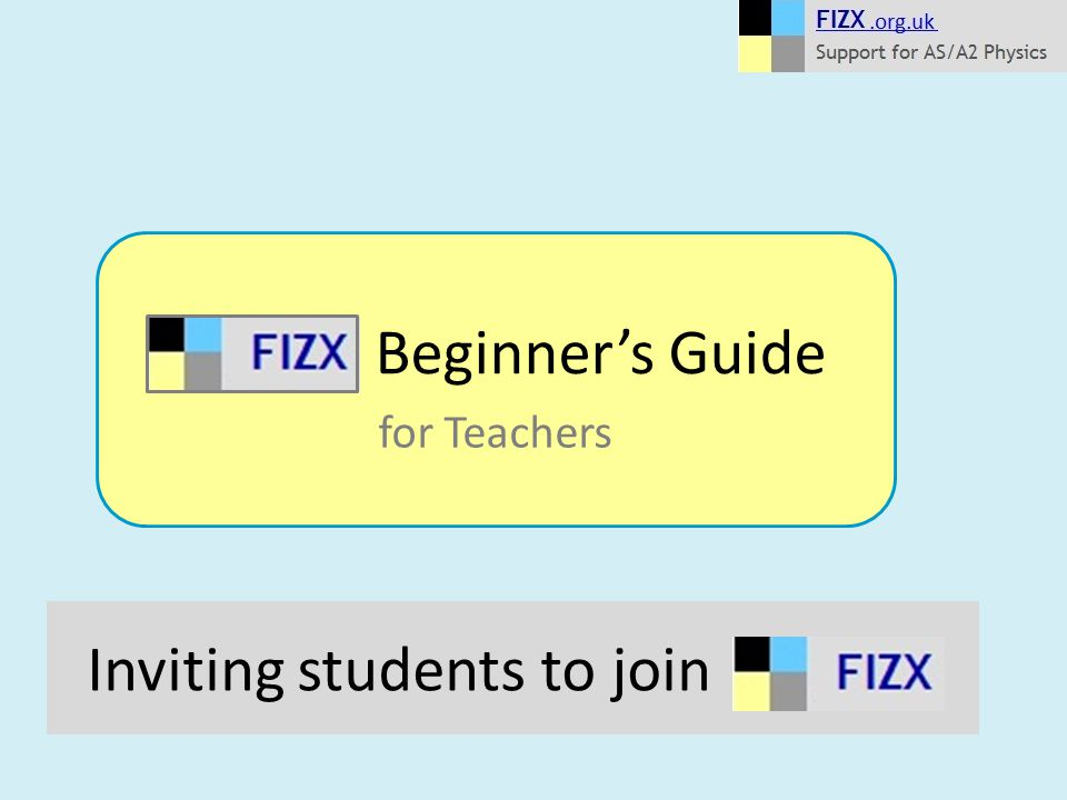 Inviting students to join Beginner's Guide for Teachers