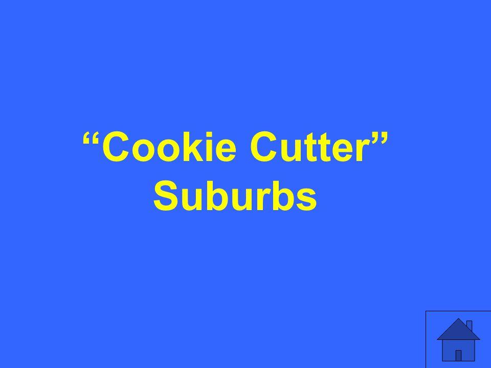 Cookie Cutter Suburbs