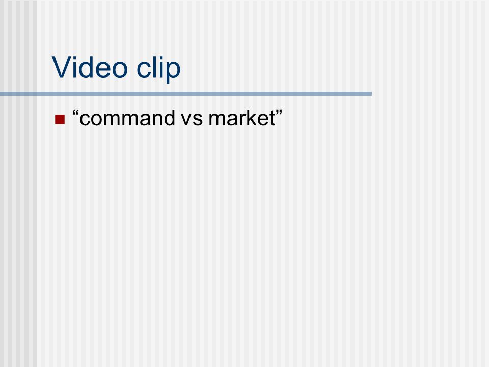 """Video clip """"command vs market"""""""