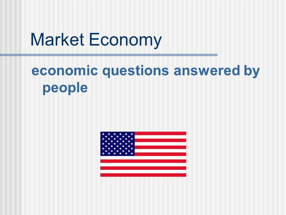Market Economy economic questions answered by people