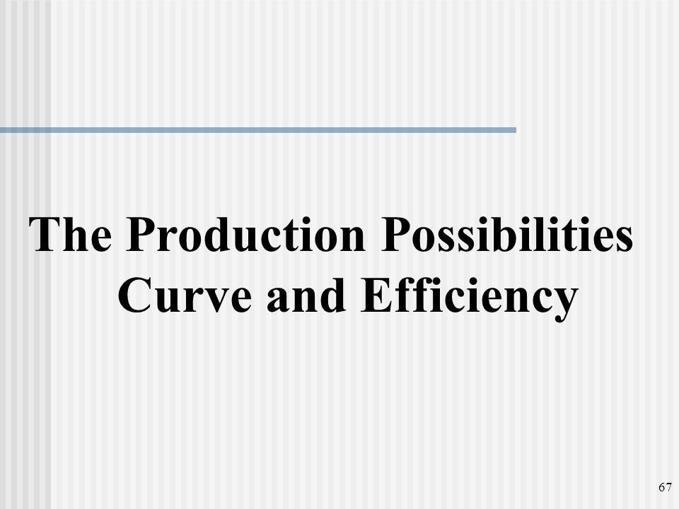 The Production Possibilities Curve and Efficiency 67