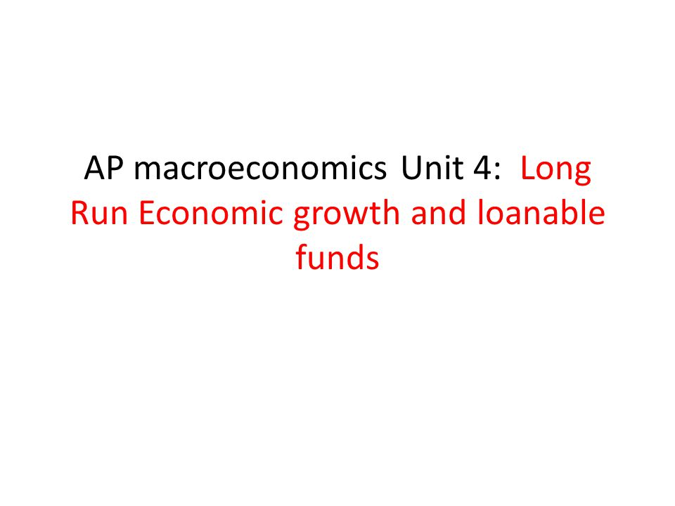 Topic 6: loanable funds theory of interest Looks at the impact of an action on REAL interest rates
