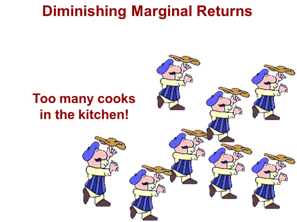 Diminishing Marginal Returns Too many cooks in the kitchen!