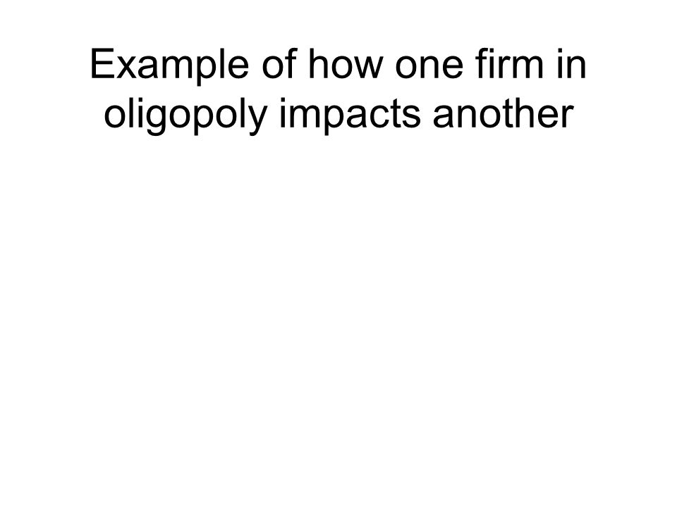 Example of how one firm in oligopoly impacts another
