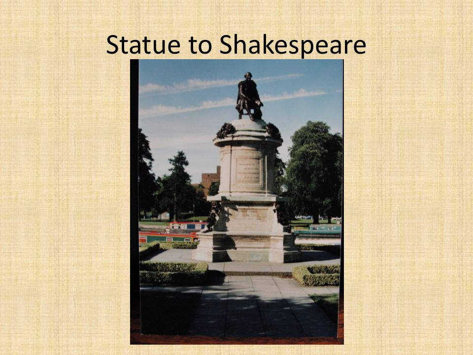 Statue to Shakespeare