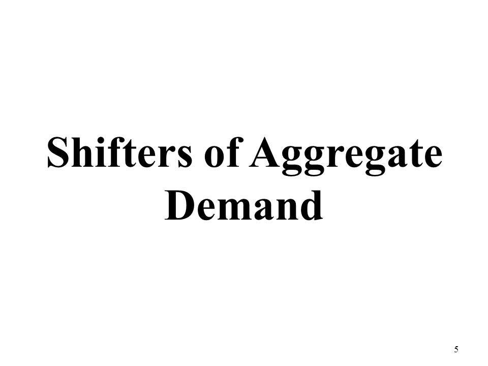 Shifters of Aggregate Demand 5
