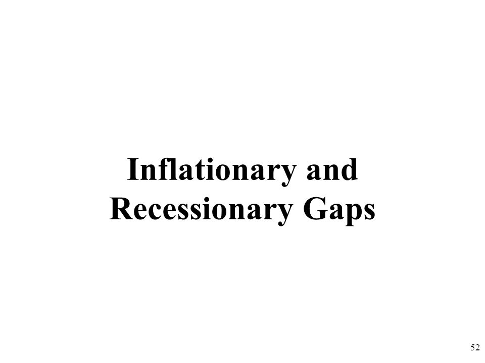 Inflationary and Recessionary Gaps 52